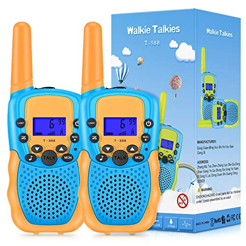 SnowCinda Walkie Talkies for Kids, Toys for 3-12 Year Old Girls with 22 Channels 2 Way Radio 3 Miles Long Range Toy for Outside Adventures, Best Gifts for 3-12 Year Old Girls
