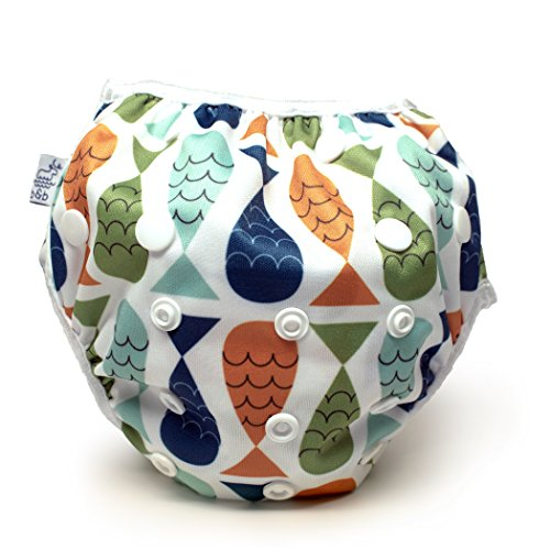 Product Image of the Nageuret Reusable Swim Diaper, Adjustable & Stylish Fits Diapers Sizes N-5...