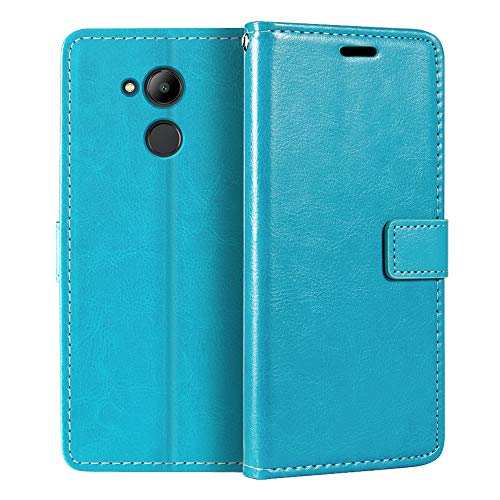Huawei Honor 6C Pro - Funda tipo cartera de piel sintética con tapa magnética y soporte para Huawei Honor V9 Play