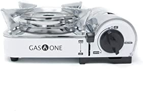 GasOne Emergency Gear Camping Mini Butane Portable Gas Stove with Carrying Case