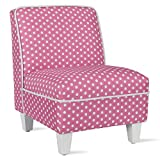 Baby Relax Lisette Kid Size Slipper, Pink Polka Dots Chair