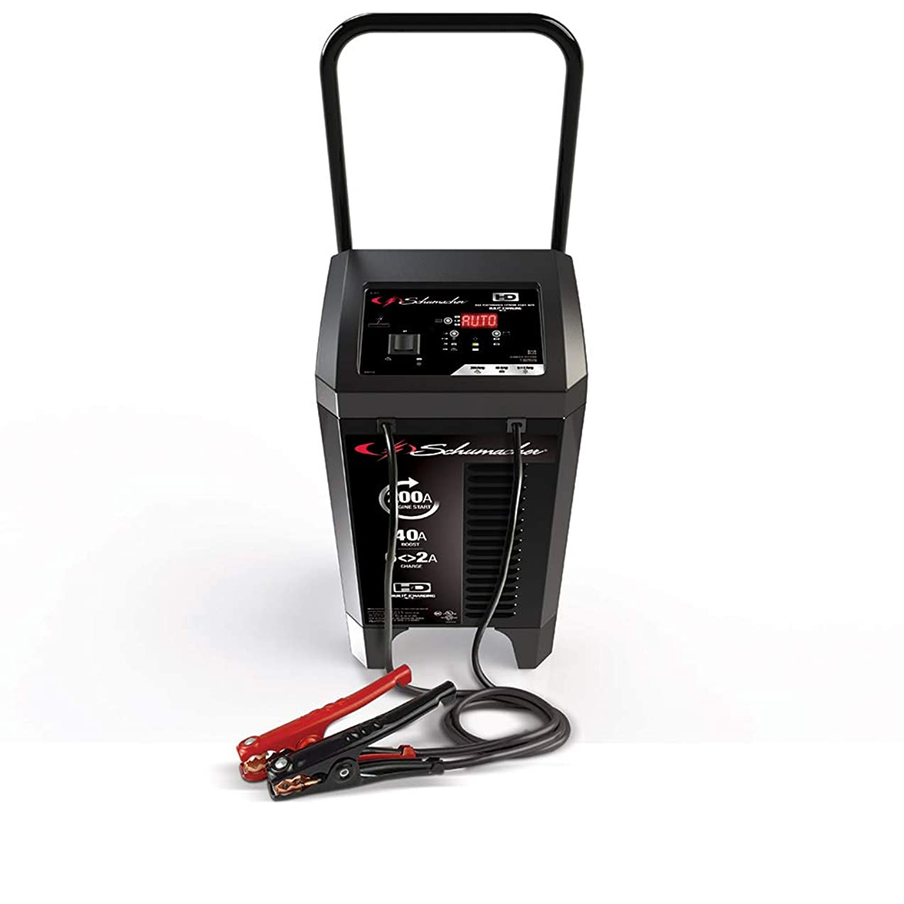 Schumacher SC1353 6/12V Wheeled Fully Automatic Battery Charger and 40/200A Engine Starter