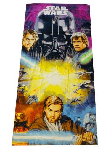 Star Wars Clone Wars Anakin Luc & Anakin Skywalker&Darth Vader Strandtuch Badetuch Duschtuch 150x75cm