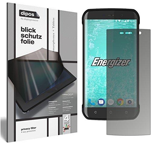 dipos I Blickschutzfolie matt kompatibel mit Energizer Hard Hülle H550S Sichtschutz-Folie Bildschirm-Schutzfolie Privacy-Filter
