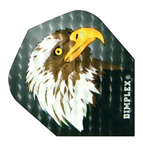 US Darts Harrows - 3 Sets (9 Flights) Dimplex Bald Eagle, American Eagle Standard Double Thick Dimpled Flights …