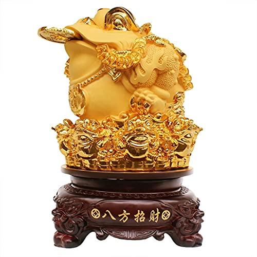 Golden Toad Lucky Decorations Kreativa Dekorationsdekorationer För Butiksbarer Och Kassadiskar Öppningspresenter För Nya Butiker Ornament (Color : Gold, Size : 26 * 26 * 40cm)