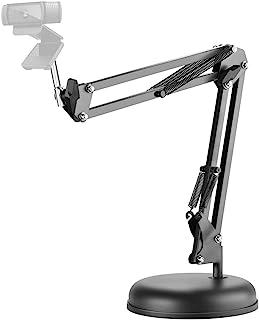 LinkIdea 360 Degree Adjustable Desktop Suspension Boom Scissor Camera Arm Stand Holder with Base for Logitech Webcam C920,...