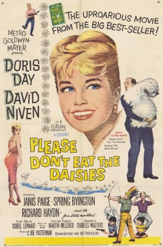 Please Don't Eat The Daisies Poster Movie 11x17 Doris Day David Niven Janis Paige Spring Byington