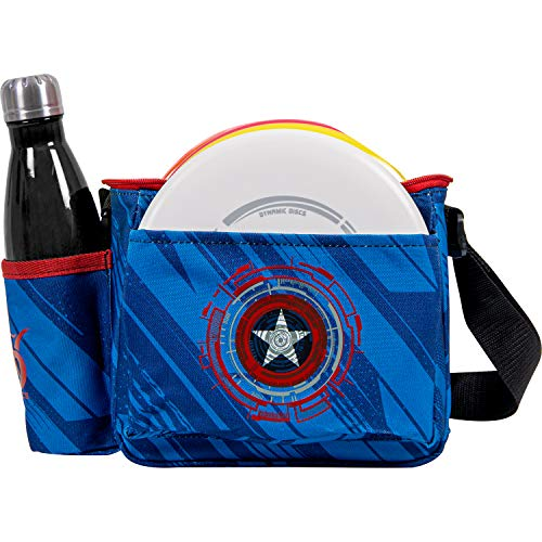 Dynamic Discs Cadet Disc Golf Bag | Introductory Disc Golf Bag | Great for Beginners and Casual Disc Golf Rounds | Lightweight and Durable Frisbee Golf Bag | 8-10 Disc Capacity… (Stars and Stripes)