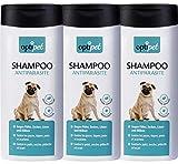 OptiPet 3x250ml Anti-Parasiten Shampoo für Hunde gegen Parasiten Flohshampoo Schutz vor Parasiten