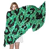 COOSUN Guepardo de la impresión de la bufanda de seda Ligera bufanda larga del abrigo del mantón de la Mujer 90x180? CM? multicolor