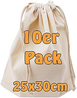 Cottonbagjoe Bomullspåse med dragsko | 25 x 30 cm | otryckt | Öktex-100 | Sminkväska | strumppåse | tygpåse för målning | ...