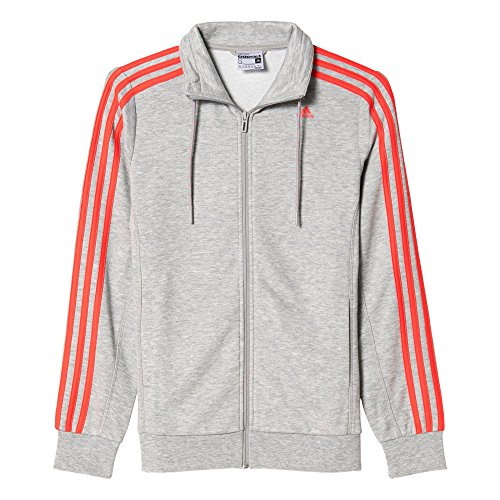 adidas - Fußball-Jacken für Damen in Medium Grey Heather/Shock Red S16, Größe S