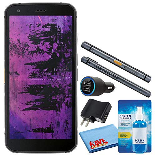 Caterpillar CAT S62 Pro Black 5.7  128GB + 6GB RAM 4G LTE Dual-SIM IP68 Rugged Smartphone (GSM Only, No CDMA) Bundle with Deluxe LCD Screen Cleaning Kit + Dual Port USB Car Charger + More