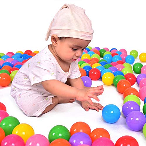 Bola del Océano, 200 Unids / Set Pelota Colorida Bola de Plástico Suave del Océano, Nadar Divertido Jugar Bolas Elástica, Bola de Piscina Agua de Juguete de Pan de Natación Divertido para Bebés