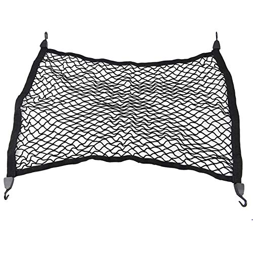 CFHMLK For BMW X3 X4 X5 X6, For Audi Q5 Q7 A4 A6 A7, Rear Trunk Floor Cargo Net Mesh Luggage Boot Storage Elastic Nets Car Accessories