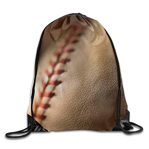 BYPOC Baseball Drawstring Gym Sport Bag, Large Lightweight Gym Sackpack Backpack for Men and Women