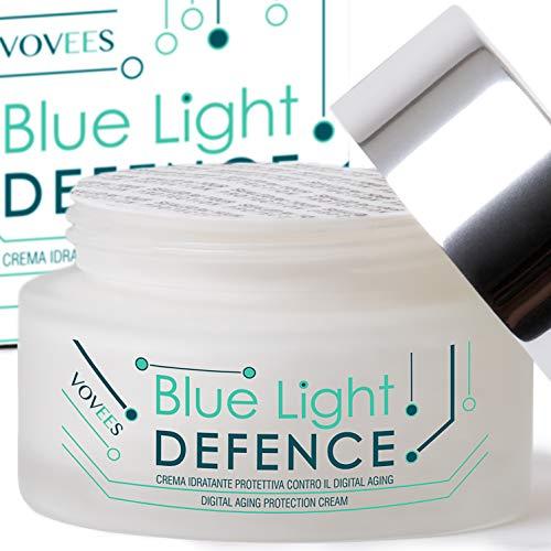 Vovees Crema Antirughe Donna per Viso e Mani Blue Light Defence ai 9 Principi Attivi - Made In Italy