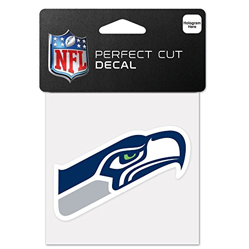 NFL Seattle Seahawks 63080012 Perfect Cut Farbaufkleber, 10,2 x 10,2 cm