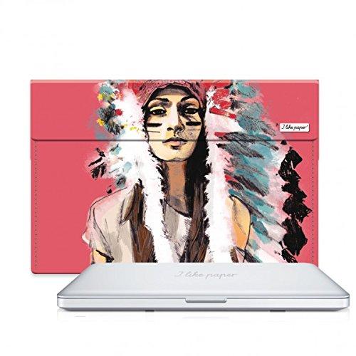 I als paper Cassandre 38,1 cm (15 inch) Tyvek Case voor Macbook Pro