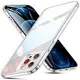 ESR iPhone12Pro Max 用 ケース 6.7インチ 透明 9H背面 tpuバンパー 薄型 黄変防止 クリア