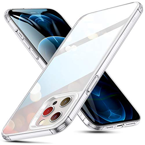 ESR Cover Compatibile con iPhone 6.7 Pollice 12 PRO Max, Serie Echo Retro in Vetro temperato Resistente ai Graffi, Trasparente