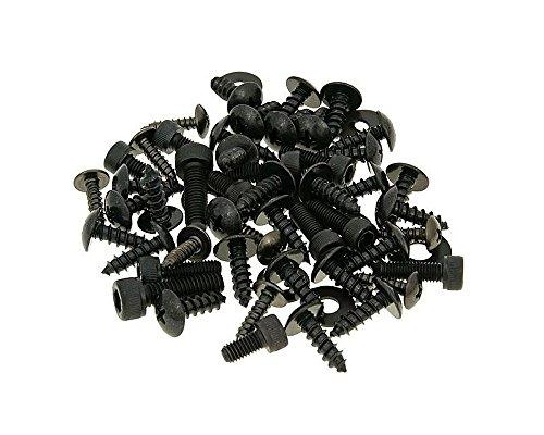 Schraubensatz Verkleidung STR8 für Yamaha Aerox, MBK Nitro schwarz