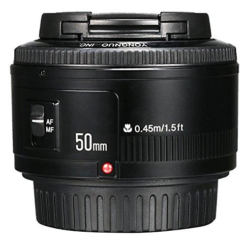 Yongnuo YN 50mm F / 1.8 AF/MF Gran Apertura Lente de Enfoque Automático para Canon EF Monte EOS Cámara LF651