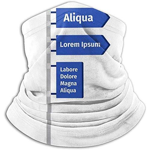 Archiba One Way Road Direction Signe Ski Froid Temps Visage Cou Warmer Polaire Capuche Hiver Chapeaux