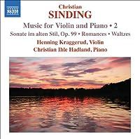 シンディング:ヴァイオリンとピアノのための作品集第 2 集
