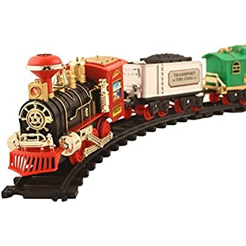 Kids World Vintage Battery Operated Choochoo Big Track Train with Real Smoke and Musical Sound Flashlight (Multicolor)