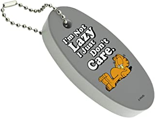 Graphics and More Garfield I'm Not Lazy Floating Keychain Oval Foam Fishing Boat Buoy Key Float