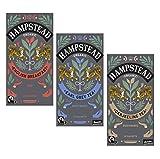 Trío de Hampstead de té negro orgánico y biodinámico: 1 x desayuno inglés, 1 x Earl Grey, 1 x Darjeeling - 3 x 20 bolsitas de té (125 gramos)