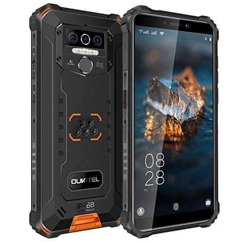 OUKITEL WP5 Pro (2021) Outdoor Handy Android 10.0 8000 mAh Akku Smartphone ohne vertrag 4GB+64GB IP68 Mobiles, 4G Dual-SIM, 3 AI Kameras, 4 LED-Blitz, Freischaltung OTG, GPS 1Jahr Garantie