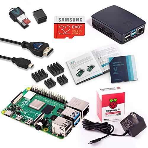 Vilros Raspberry Pi 4 Model B (2GB) Complete Starter Kit with Black/Grey Official Raspberry Pi Case