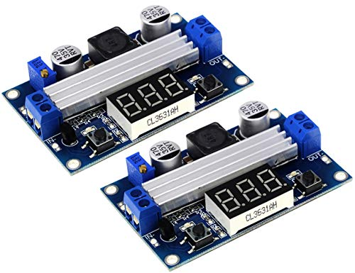 TECNOIOT 2pcs LTC1871 DC DC Step Up Booster Converter 3-35 VDC to 3.5-35 VDC LED Voltmeter