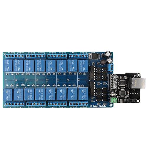 Ethernet Relais Steuerungs Steuerung Modul Board LAN WAN Netzwerk WEB Server mit RJ45 Schnittstelle + 16 Kanal Relais für Smart Home Fernbedienung