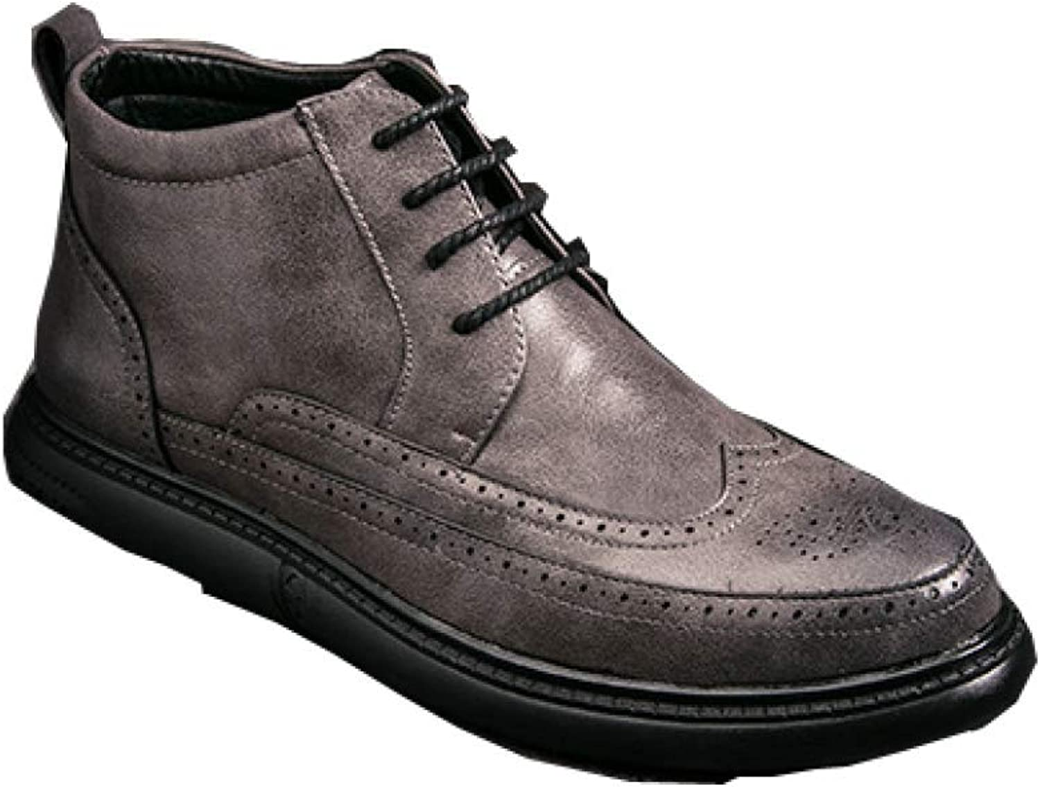 NIUMT Bullock Thick-Soled shoes, Casual and Comfortable Flat Boots, Fashion Martin Boots