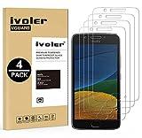 ivoler [Pack de 4] Verre Trempé pour Motorola Moto G5, Film Protection en Verre trempé écran Protecteur vitre