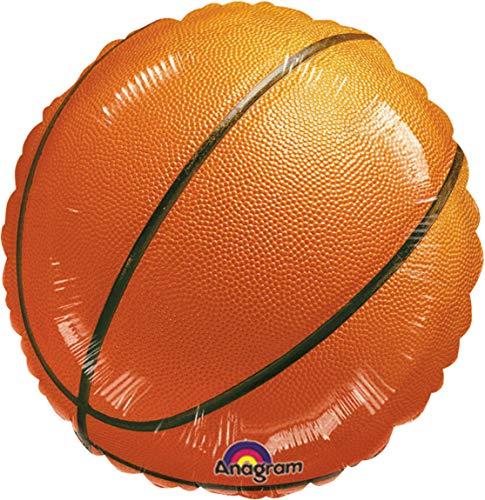 Amscan 117020-01 - Standard Folienballon Championship Basketball, Durchmesser 43 cm, Heliumballon