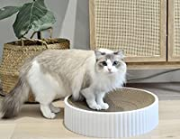 ⭐【 SCRATCH, PLAY & SLEEP 】Your cat will love this circular, 2-in-1 bed and scratcher. The cat bed can be used for scratching when claws need sharpening, or as a place to curl up and sleep. Your cats won't be scratching your furniture, when you have t...