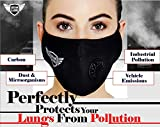 Urbangabru N99 Anti Pollution Mask with 4 layer protective filters Pm 2.5 Activated Carbon Filters (washable and reusable)(Black)