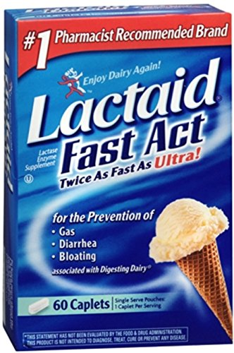 LACTAID Fast Act Caplets 60 ea (Pack of 2)