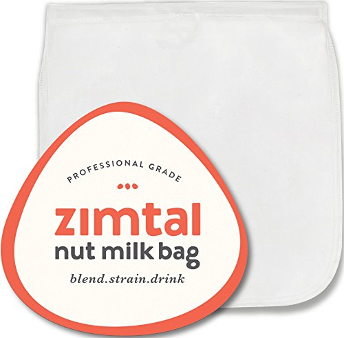 """Premium Quality - Nut Milk Bag - XL - 13 """" X 13 """" - Smoothie Strainer - Cold Brew Coffee Maker- Free Recipes Included - Reusable - Filter Bag - Professional Industry - Largest on Amazon"""