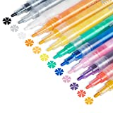 Acrylic Paint Pens for Rock Painting, Halloween Pumpkins, Wood Craft, Glass, Fabric, Metal, Ceramic, Mugs, Windows, 12 Colors Fine Tip Paint Markers