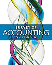 Best survey of accounting 7th edition by carl warren Reviews