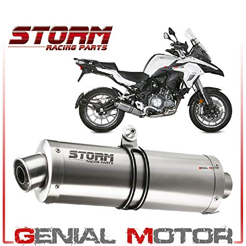 74.AT.003.LX2B Scarico Storm by Mivv Oval nero inox per Speed Triple 2004 04