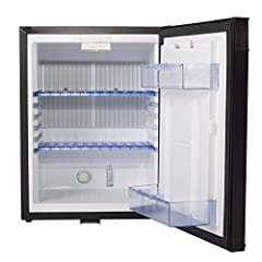 Dimension:15.8 x 18.1 x 21.7 inch 110V 12V electric single door small refrigerator with lock Rear Mounted, Revisible Door, Balcony, Automatic defrost, LED light, with lock No Freon, no pollution, low energy consumption, environment friendly, no noise...