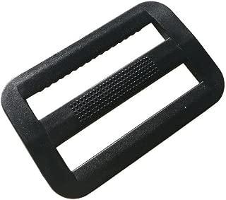 20 Pcs 1-1/2 inch Plastic Triglides Slides for Webbing, Fasteners Strap and Backpack (38mm, Black)