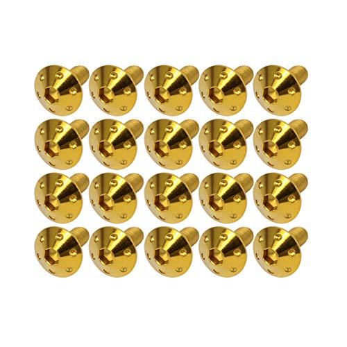 M6×10mm P1.0 ホールヘッドボルト ゴールド ボタンボルト ステンレス削り出し SUS304 20個セット TR0064-20SET